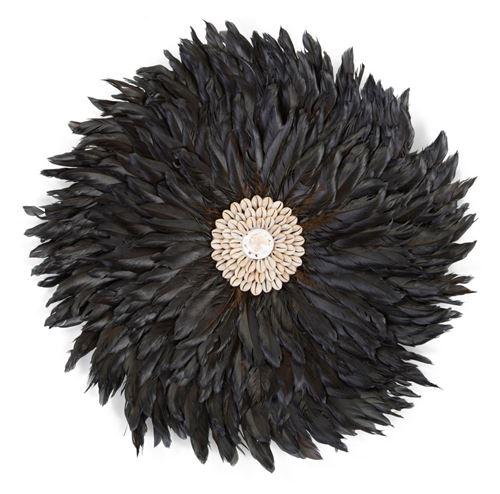 CHILDHOME Juju Feathers Decoration Murale 30 Cm Anthracite