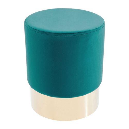 Tabouret Cherry turquoise et laiton Kare Design