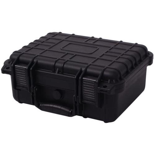 vidaXL Boîte de protection pour équipement 35 x 29,5 15 cm noir