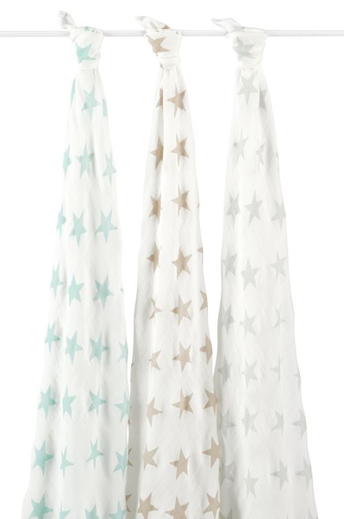 Lot de 3 Maxi-langes Silky Soft Milky Way Aden et Anaïs
