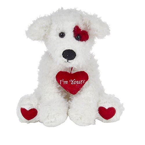 Bearington Smootchie Poochie, Valentines Day Plush Stuffed Animal Puppy Dog, White 10