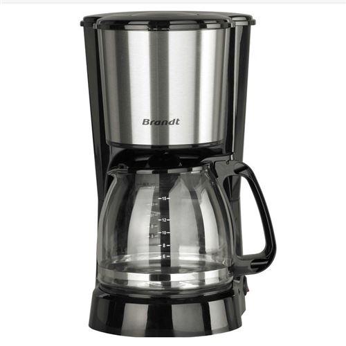 Brandt CAF815X - Cafetière - 15 tasses - noir/inox