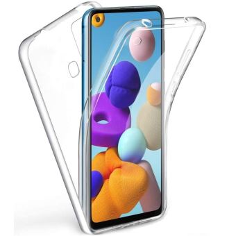 Coque pour Samsung Galaxy A21S - Protection Gel TPU Silicone Intégrale Transparent 2 Parties Avant Arrière Emboitable Phonillico®