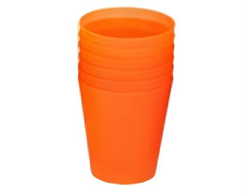 TOM tasses à boire junior 250 ml orange 6 pièces