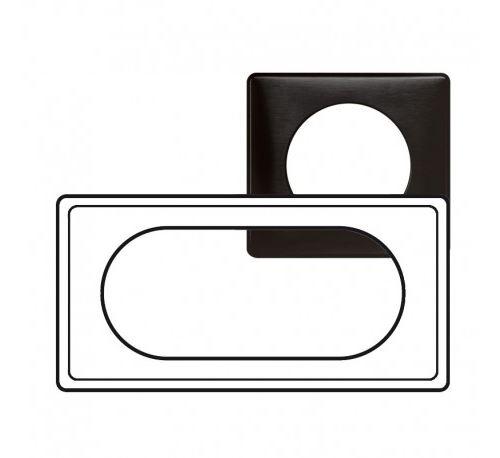 Plaque Céliane Carbone - 4/5 modules