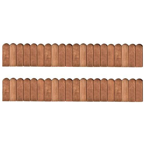 vidaXL Rouleaux de bordure 2 pcs 120 cm Bois de pin imprégné