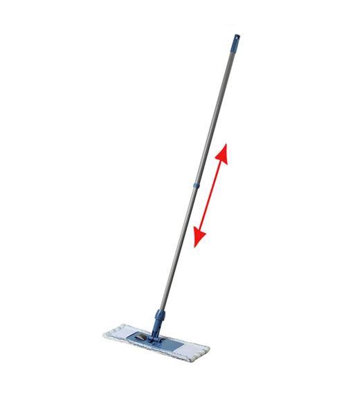 Balai dépoussiérant télescopique gris 128 x 44 x 14 cm