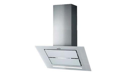 Roblin Vizio Verre 900 - Hotte - hotte décorative - largeur : 89.8 cm - profondeur : 47.6 cm - extraction et recirculation (avec kit de recirculation supplémentaire) - Blanc verre