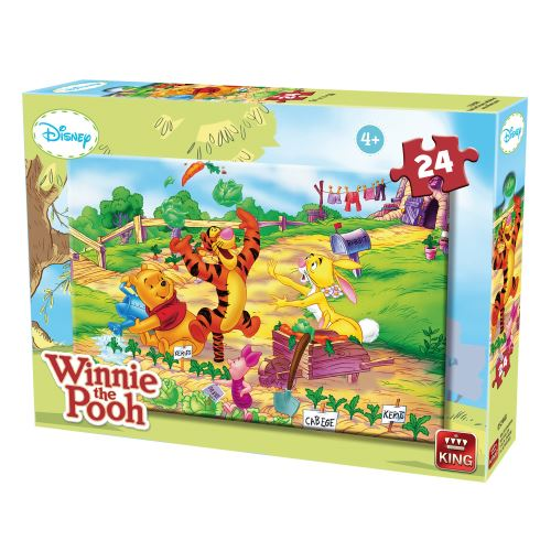 Puzzle 24 pièces : winnie l'ourson et ses amis king puzzles