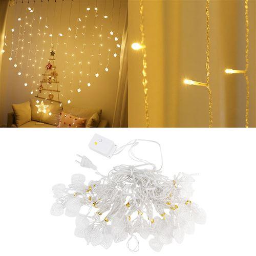 Guirlande lumineuse LED en forme de coeur lumière blanc chaude