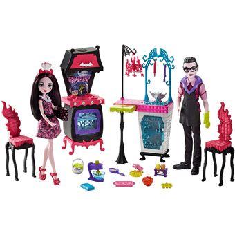 Monster High Fcv75 Jouets Famille Vampire Avec Cuisine Et Poupees Lot De 2 Accessoire Poupee Achat Prix Fnac