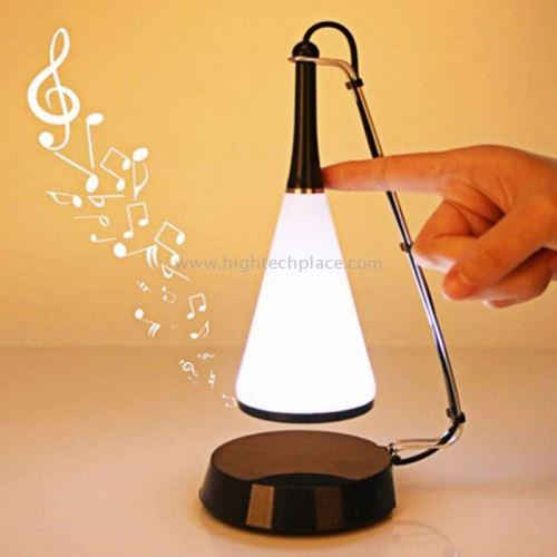 Eclairage LED Guirlande/Décoration LED SHS-1118 Lampe de bureau multifonction de bureau Chambre à coucher Capteur tactile Lampe de table à LED avec mini haut-parleur (Noir)