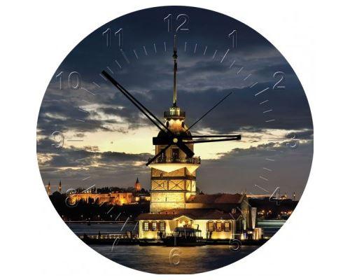 Puzzle 570 Pièces : Puzzle Horloge - The Maiden's Tower, Tour de Léandre, Turquie (Pile non fournie), Art Puzzle