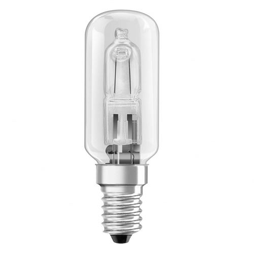 Lampe halogène pour hotte aspirante, 25W, forme tube, transparente, E14
