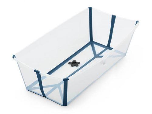 Stokke Flexi Bath X Large Transparent Bleu Baignoires Achat Prix Fnac