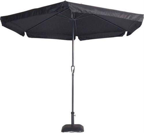 Outdoor Living Gemini Parasol - parasol bâton - Ø300 cm - noir