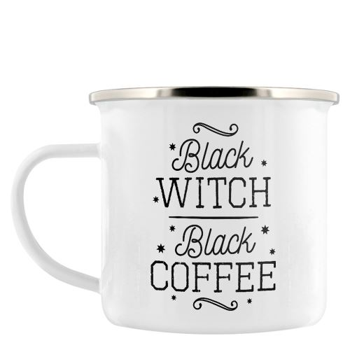 Tasse d'émail Black Witch blanc