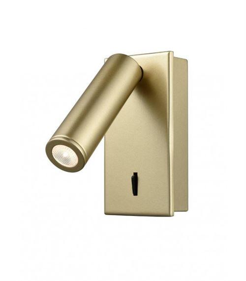 Applique Murale dorée LED 1 Ampoule Hauteur 12 Cm