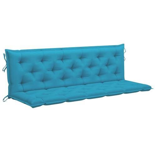 Coussin de balancelle 180cm Tissu Bleu