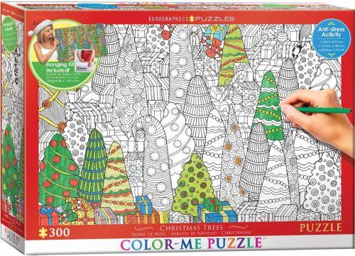 Eurographics 6033–0886 Couleur Me Arbres de Noël Puzzle (300)
