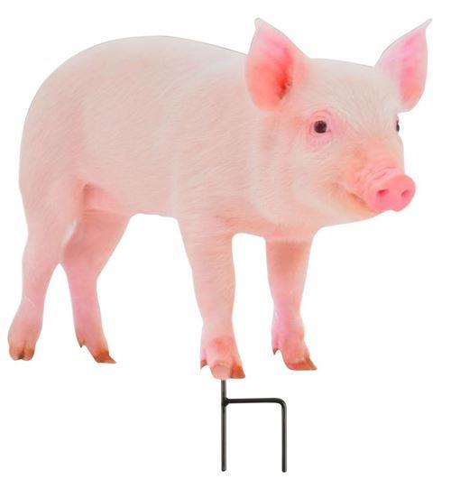 Esschert Design - Animal de la ferme décoratif sur pic Cochon