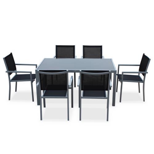 jardin Capua 150cm6 Salon aluminium fauteuils en table de IEeWH2YD9