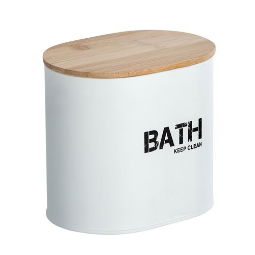 Wenko - Boîte de rangement salle de bain Gara - L. 14 x H. 13 cm - Blanc - Gara