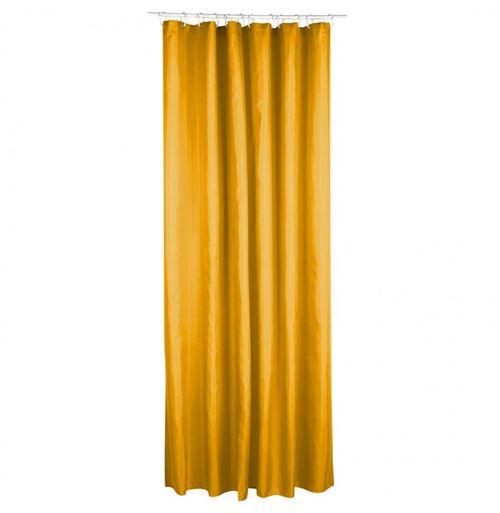 Rideau de douche en polyester - 180 x 200 cm - Jaune