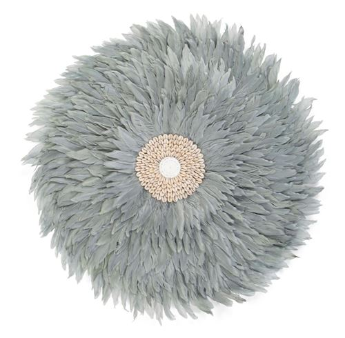 CHILDHOME Juju Feathers Decoration Murale 50 Cm Gris Clair