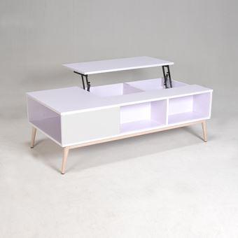 Blanc Basse Mira PrixFnac Table Achatamp; j4Aq35RL