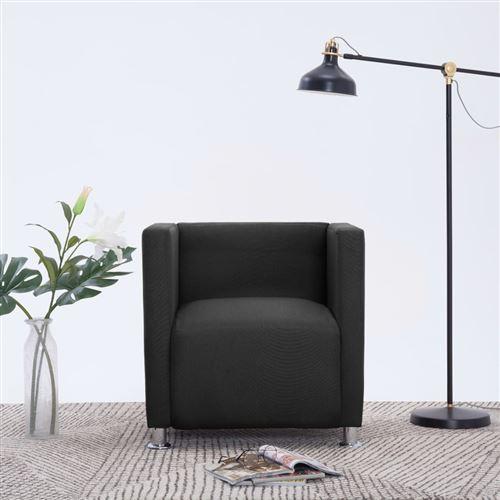 Fauteuil cube Noir Polyester