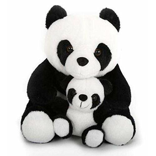 Porte-bébé et bébé panda noir et blanc