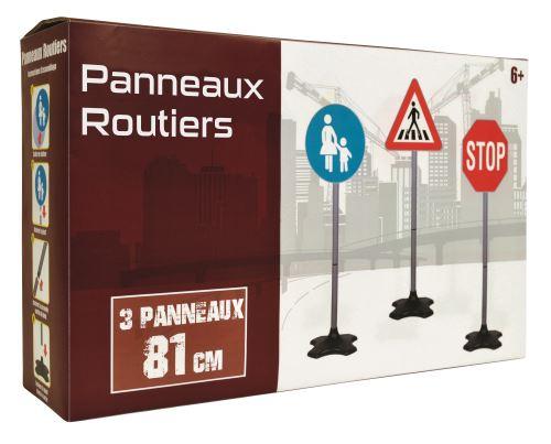 3 panneaux de signalisation