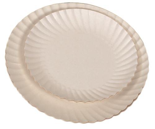 Assiette impergras carton blanc
