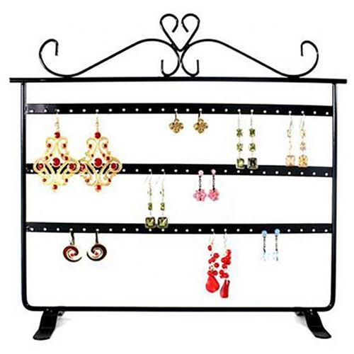 Porte bijoux cadre présentoir boucle d'oreille window (32 paires) Noir