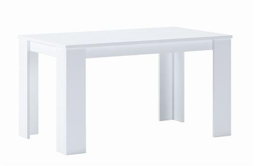 Skraut Home - Table 140 cm rectangulaire, couleur blanc mat