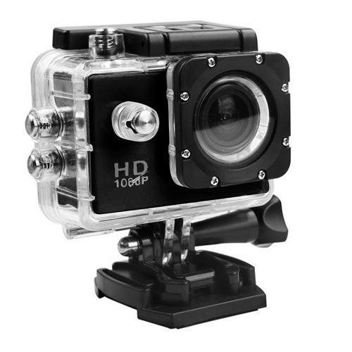 Caméra Sport Mini Hd 1080P Wifi Étanche -Noir
