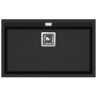 evier granit noir rectangle sans gouttoir delicia. Black Bedroom Furniture Sets. Home Design Ideas