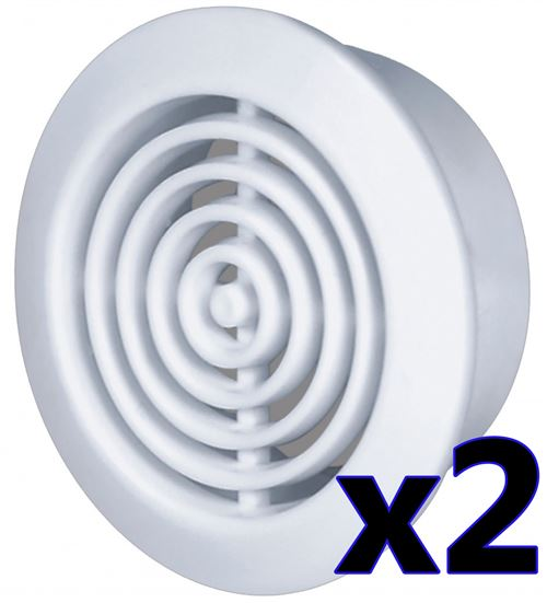 Trou 45mm diamètre 2x blanc porte ronair