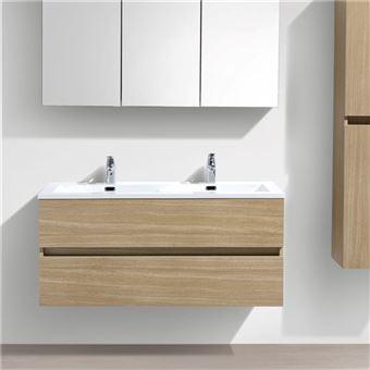 130 sur double vasque poser 160 cm lavabo marbre de synth se blanc salle de bain. Black Bedroom Furniture Sets. Home Design Ideas