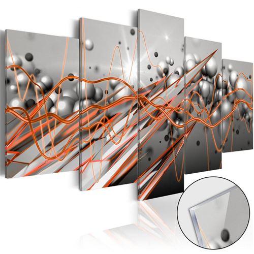 Artgeist - Tableau sur verre acrylique - Orange Stream 200x100