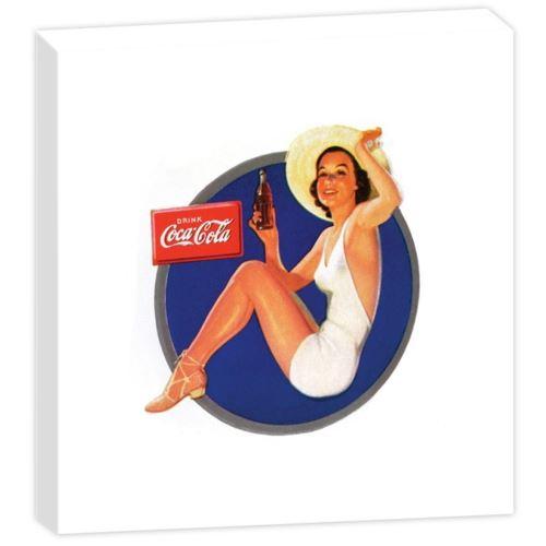 Cadre carré en Toile Coca-Cola - Fabriqué en France