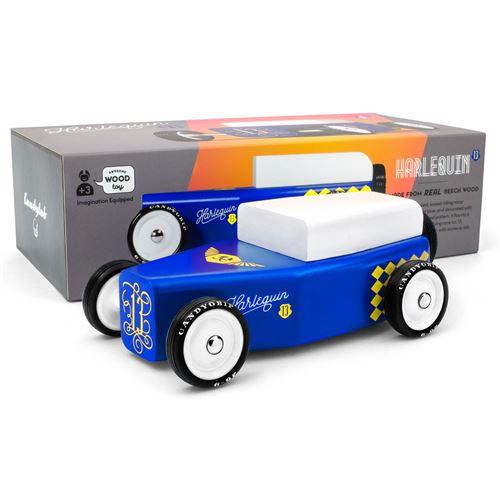 Petites voitures et mini modèles rétro classiques en bois Candylab Outlaw Véhicules design pour enfants et adultes - Harlequin