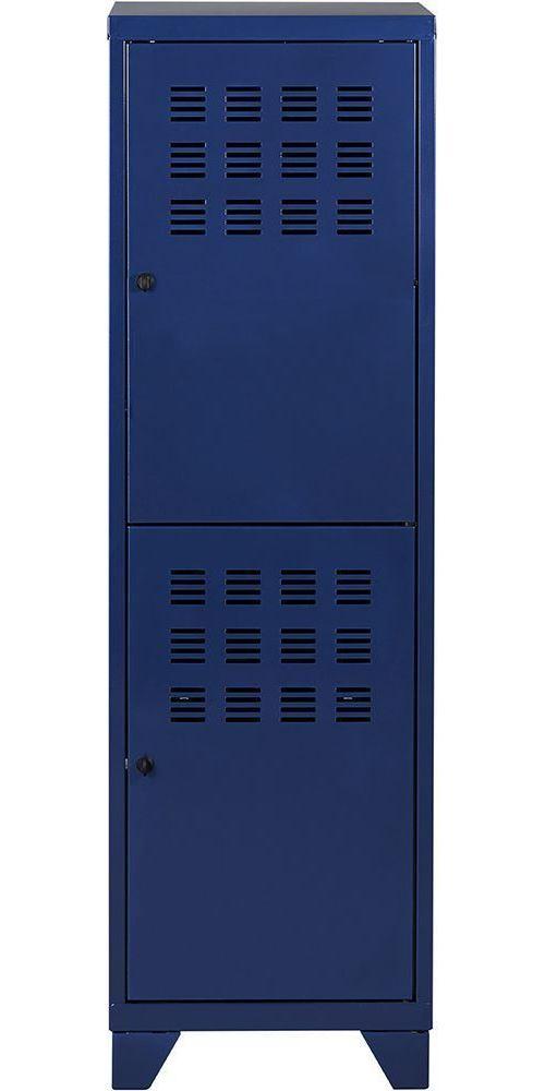 Pierre Henry - Vestiaire 2 portes avec serrures à loquet Bleu nuit nacré