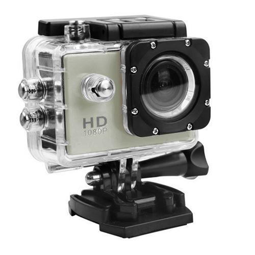 Caméra Sport Mini Hd 1080P Wifi Étanche -Argent