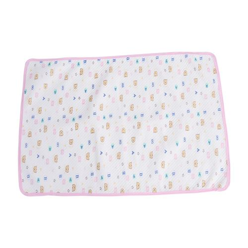 Couche jetable Imperméable à l'eau coton tapis d'urine couche-culotte rose emballé M