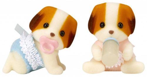 Sylvanian Families speel figuren Tweeling Chiffon Hond