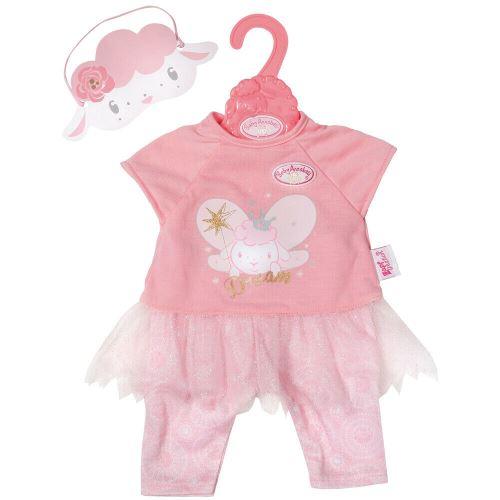Pyjama rose avec tulle fee mouton baby annabell - 43 cm - habit poupee - zapf accessoire poupon