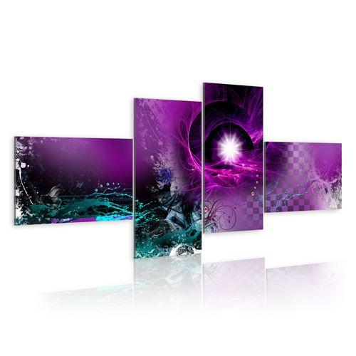 Tableau | Violet brillant | 100x45 | Abstraction |
