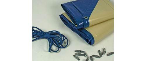 bâche hiver cover 1 pour piscine cancun - 580 gr/m² - bleu